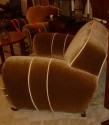 Sumptuous over-sized pair of club chairs