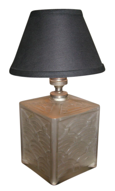 Art Deco Glass Table Lamp French