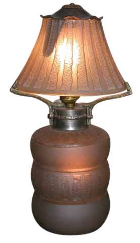 French Daum  Art DecoTable Lamp Acid Etched
