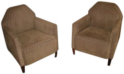 Pair of 1930s French  Modernist Club Chairs
