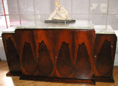Art Deco French Rosewood Sideboard Buffet