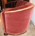 Glamorous Art Deco channel back Sofa