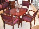 French Mahogany Art Deco Cocktail martini Chairs