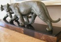 Prowling Tigers by Rulas Art Deco Statue