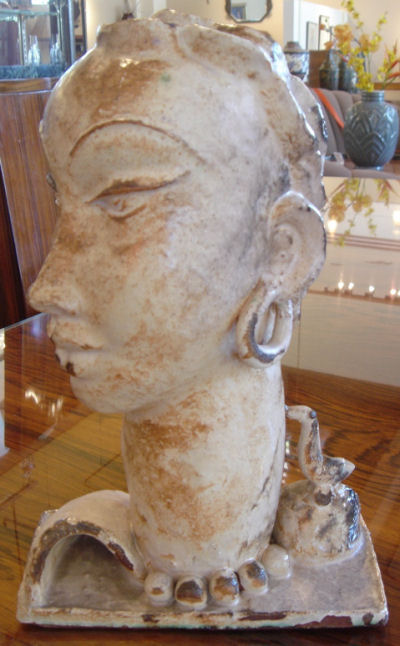1930's Austrian Bust Original Weiner Werkstatte