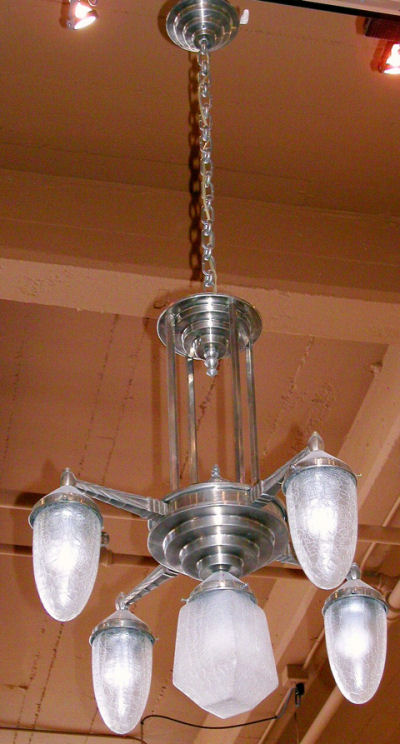 French Nickel Chandelier