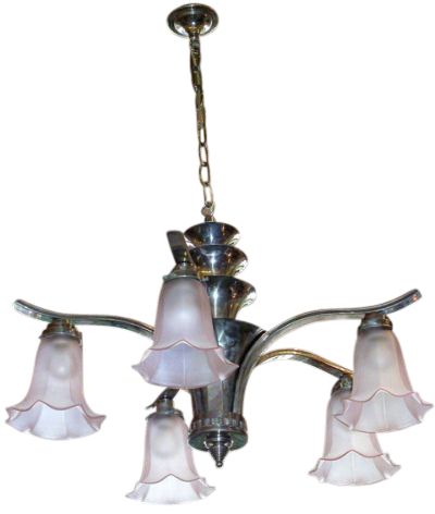 Glamorous Chrome Chandelier Pink