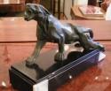 cubist sculpture of a jaguar