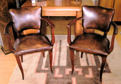 Pair of vintage French chairs