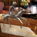 French Horse and Rider Statue