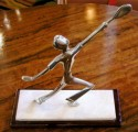 French Tennis Player Statue