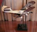 Chrome Biplane Statue