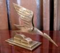 Chrome Crane Sculpture