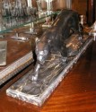 French Black Panther Sculpture