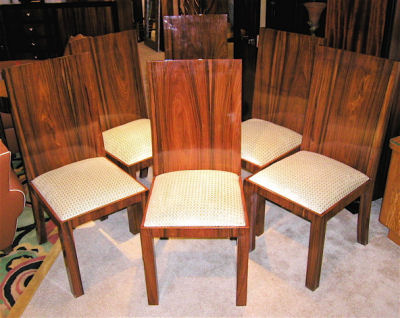 Six 1930's modernist dining chairs