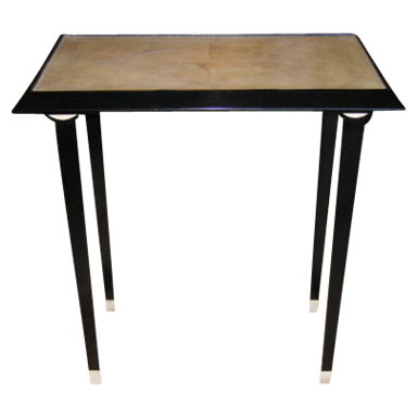French Black Lacquer Side Table
