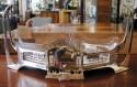 Art Nouveau Silver and Glass Centerpiece