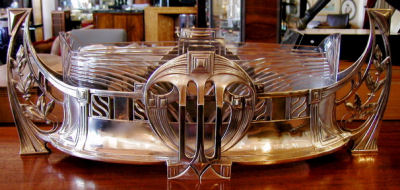 WMF Silver and Glass Centerpiece