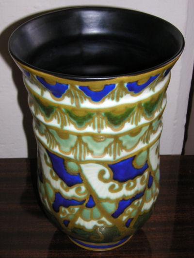 Stunning Keramis Pottery Vase Boch Freres Ceramics Art