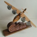 French Airplane Scullpture in Wood