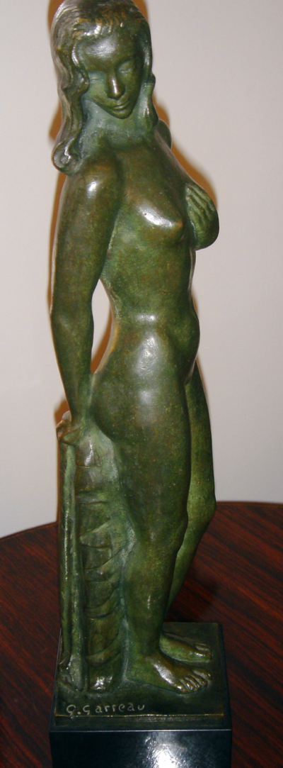 Art Deco  Garreau Bronze Woman