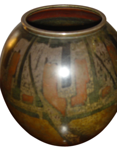 Dinanderie like Linossier French Vase