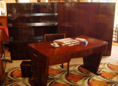 Art Deco Mahogany Executive Office Suite Sold Items