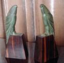 Art Deco Pair of French Bronze Birds