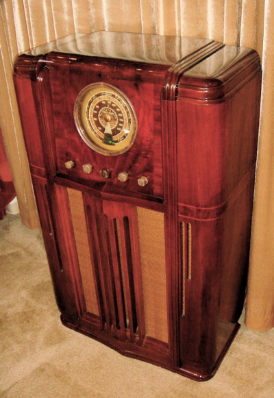 1936 Silvertone Art Deco Radio Console Sold Items Radios
