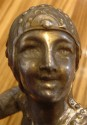 Ravishing 1930s Art Deco Siren with Bow Statue - Signed by Limousin