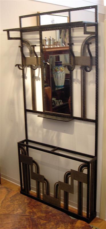 40s French Iron Hallway Coat Rack Sold Items Ironwork Art Deco Magnificent Hallway Coat Racks