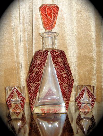 1930s Czech Decanter Set Sold Items Cocktail Art Deco
