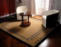 "Art Deco Collection Custom Carpet • ""Ruhlmann"" Tan"