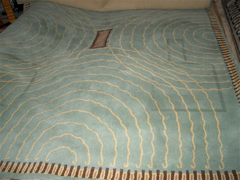 Art Deco Collection Custom Carpet Circles And Waves