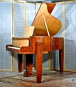 French art deco piano in the manner of Dominique circa 1933.