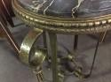 Green-Gold Patina Iron Table Art Deco Table
