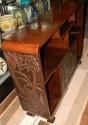 African Carved Exotic Art Deco Bar Storage left side