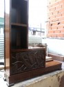 Carved African Theme Art Deco Book case carved side
