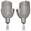 Art Deco Sconces Streamline Slip Shade Design