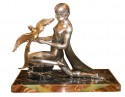 French Art Deco Statue signed Limousin