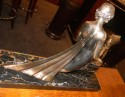1992kFrench Art Deco Statue signed Limousin back view