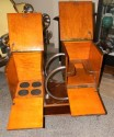 Unique Art Deco Rolling Bar or Liquor Cart open