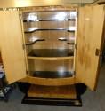 English Art Deco Epstein Bar Lacquer Storage Cabinet open