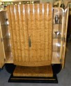 English Art Deco Epstein Bar Lacquer Storage Cabinet side doors