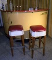 Unusual and Original 1930's  Art Deco Bar with stools