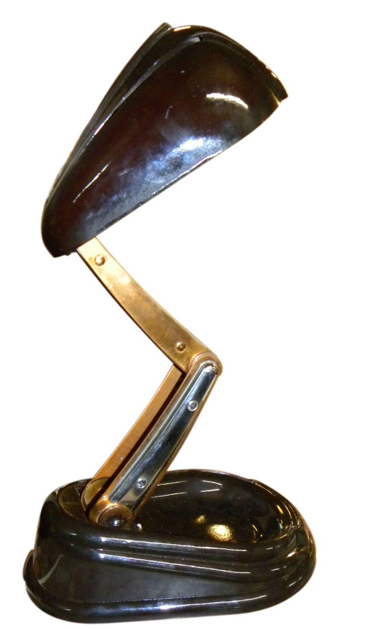 Original Postwar French Jumo Art Deco Desk Bakelite Lamp