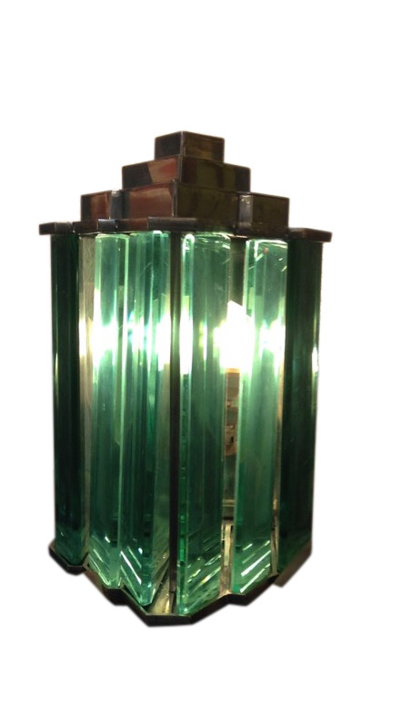 Pair of Maison Desny lights | Sconces Paris 1930  Modernist glass