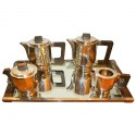 Modernist Art Deco French Coffee Tea Service with Tray