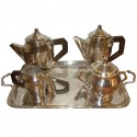 French Classic 5 piece Art Deco Coffee Tea Service