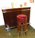 Dramatic Art Deco Bar with Light-Up Top w/stool